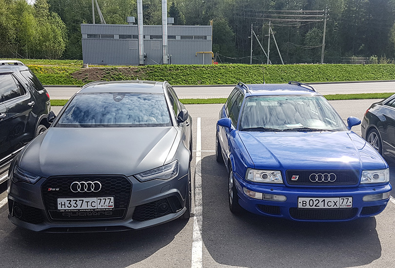 A chance meeting with the oldest ancestor of the RS6, the Audi RS2