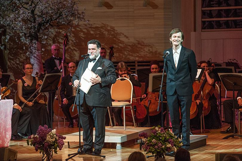 Основатель фестиваля Михаил Куснирович и Филипп Янковский