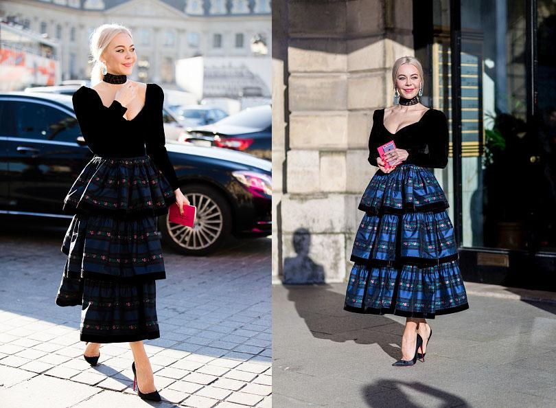 Street Style: хроники уличной моды на Неделе Haute Couture в Париже: Ульяна Сергеенко