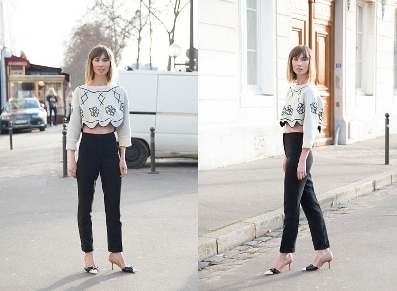 Street Style: хроники уличной моды на Неделе Haute Couture в Париже: Анна Зюрова