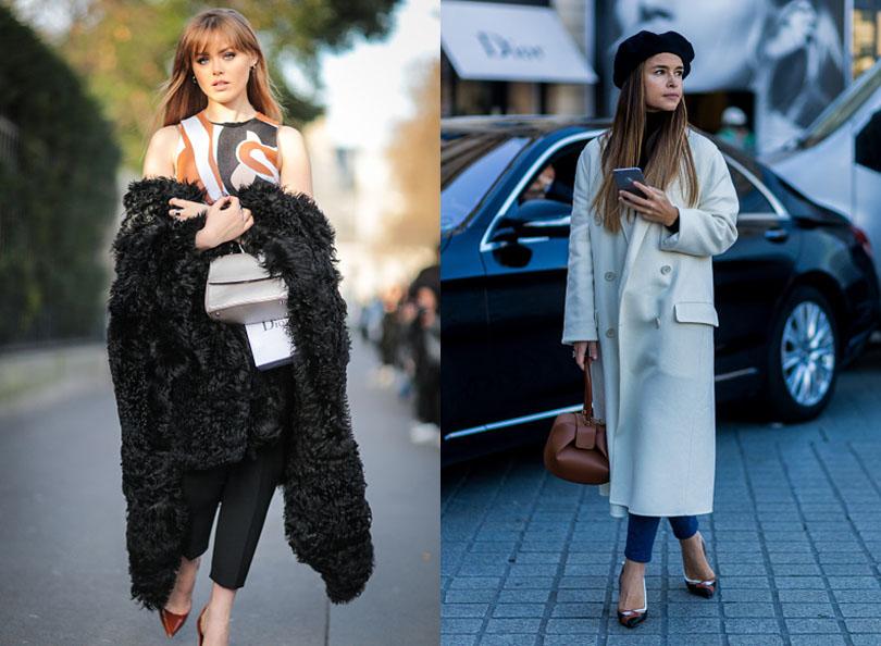 Street Style: хроники уличной моды на Неделе Haute Couture в Париже: Кристина Базан и Мирослава Дума