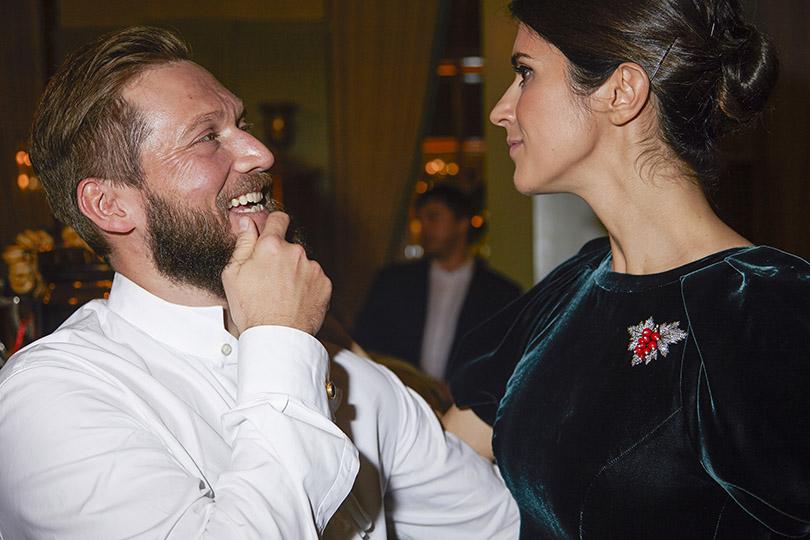 Петр Аксенов с Ксенией Соловьевой (в платье Edem Couture)